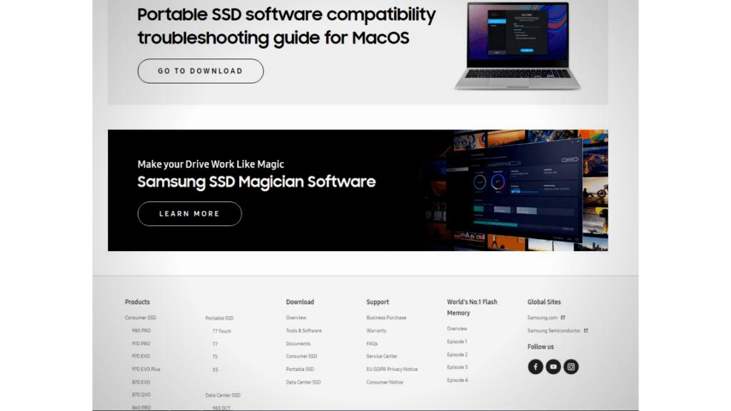 Samsung SSD Magician Software