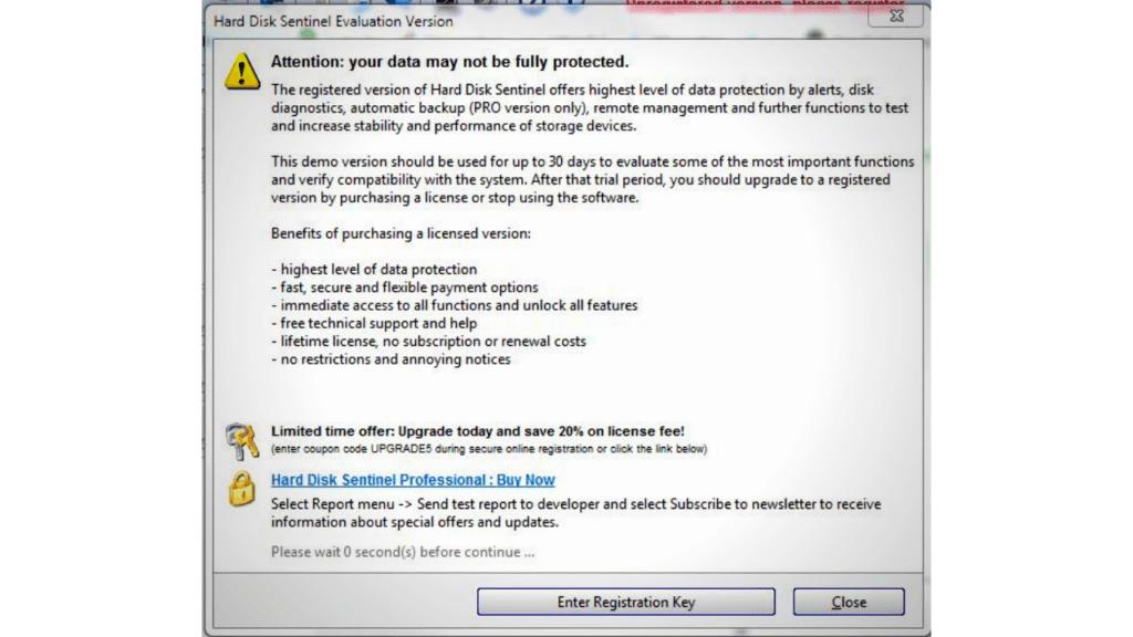 using hard disk sentinel