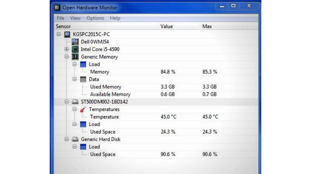 using open hardware monitor