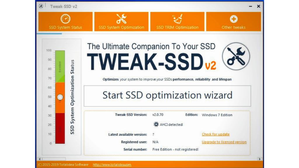 using Tweak SSD