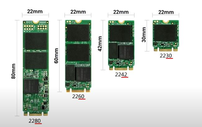 M.2 SATA SSD with different length