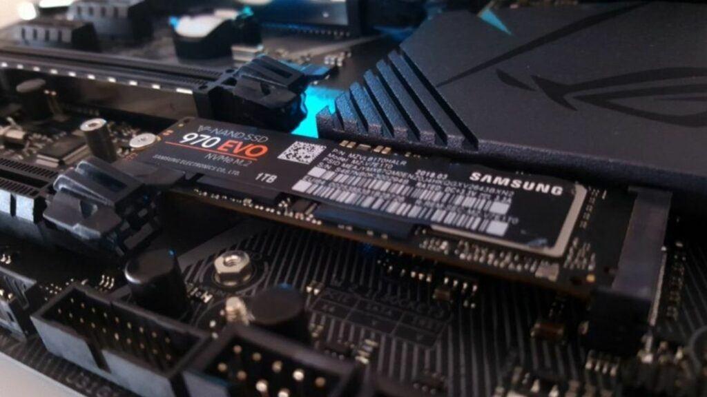 NVMe M.2 SSD slot inside the motherboard