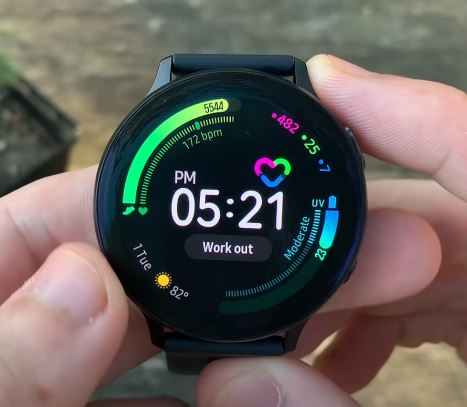 measure stress with Galaxy Watch Active 2